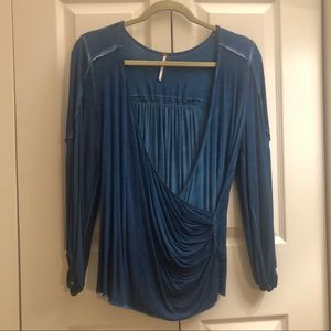 Free People wrap front long sleeve XS